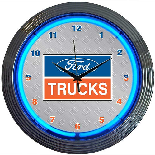 Ford Trucks Neon Clock