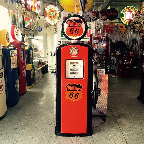 Restored Phillips 66 Gas Pump