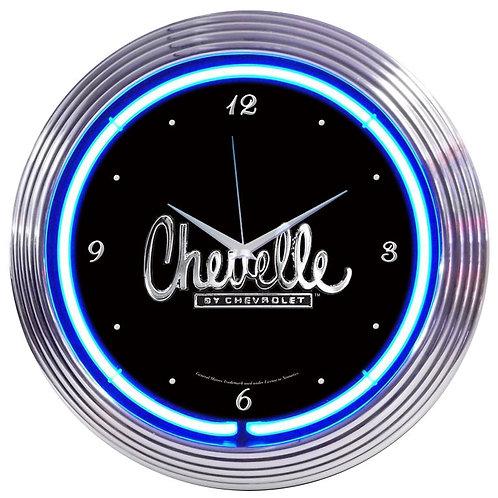 "GM Chevelle Neon Clock 15"" Diameter"