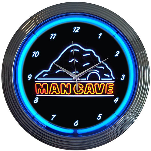 "Man Cave Neon Clock 15"" Diameter"