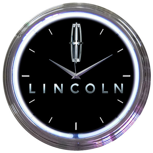 Ford Lincoln Neon Clock