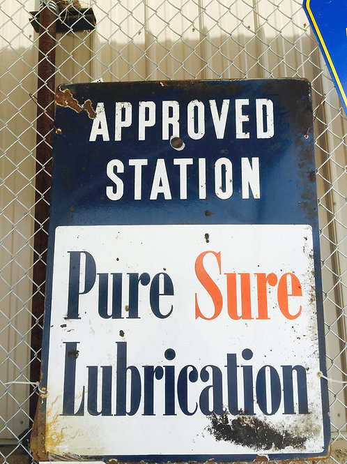 Pure Sure Oil Sign  29 X 40""