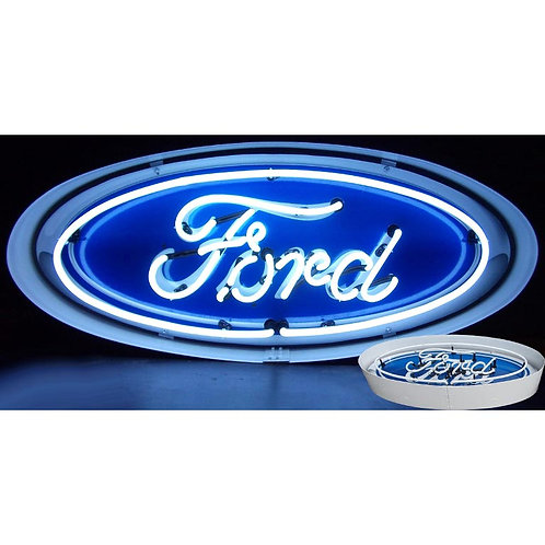 Ford Oval Neon Sign with Metal Casing