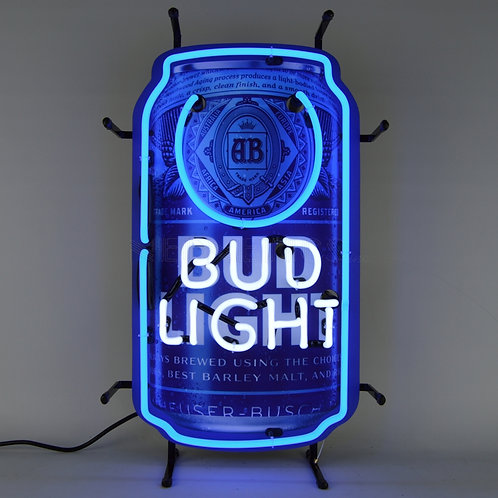 """BUD LIGHT CAN NEON SIGN 14"""" X 24"""""""