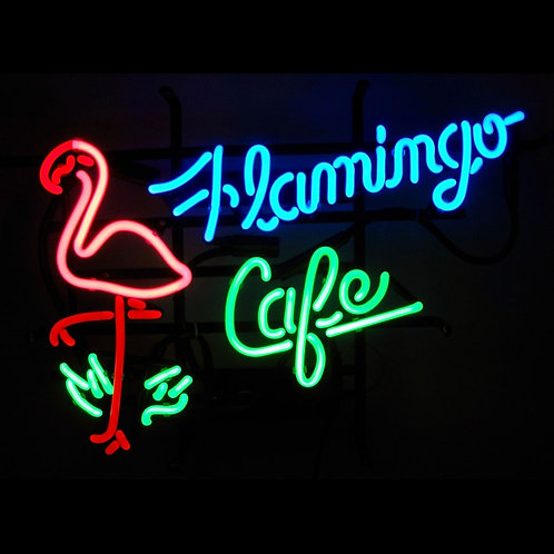 "Flamingo Cafe 24"" x 20"""