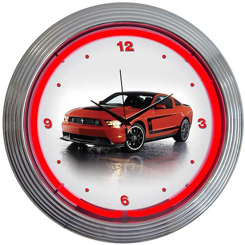 Ford Mustang Boss 302 Neon Clock