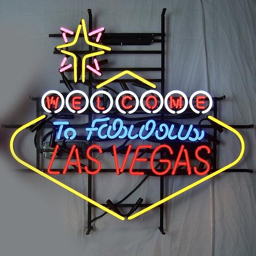 "Welcome To Fabulous Las Vegas 39"" x 33"""