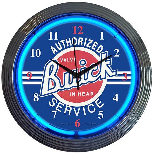 GM Buick Service Neon Clock