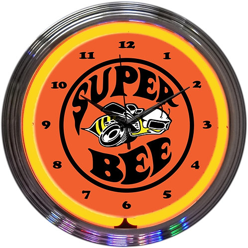 Dodge Super Bee Neon Clock