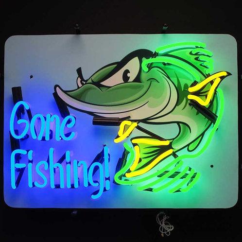 """Gone Fishing 24"""" x 18"""""""