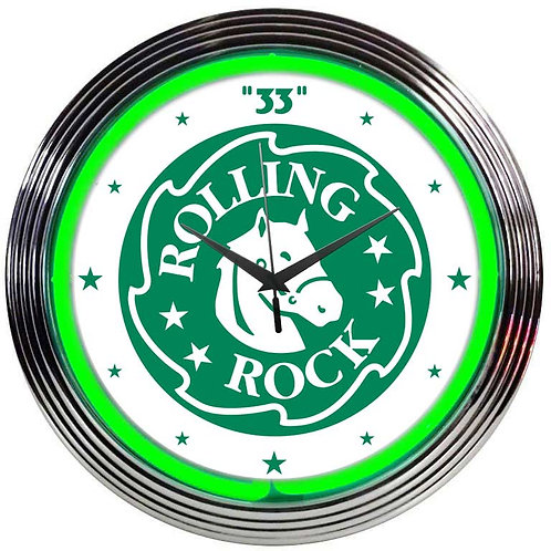 Rolling Rock Beer Neon Clock