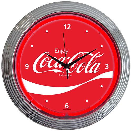 Coca-Cola Wave Neon Clock
