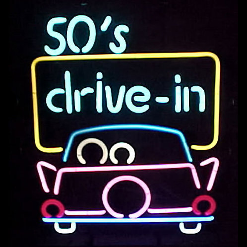 50s Drive In Neon Sign 22""