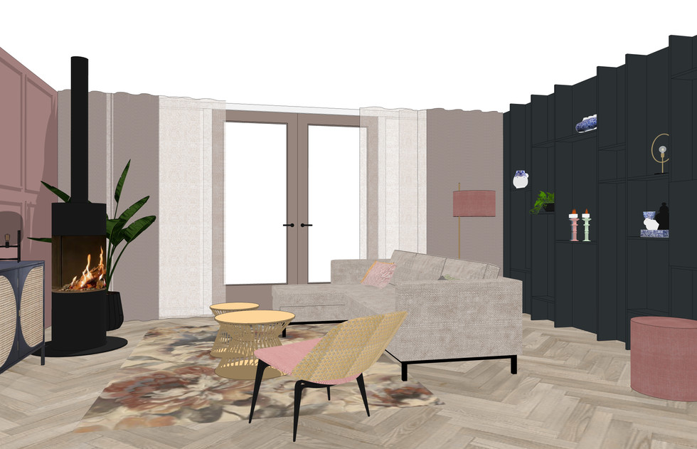 3D interieurplan woonkamer