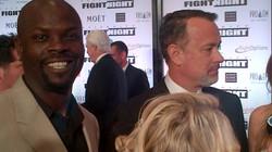 Shoulder to shoulder with Tom Hanks