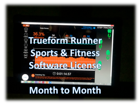 Software License- Sports & Fitness - Month to Month Trueform Runner  Display