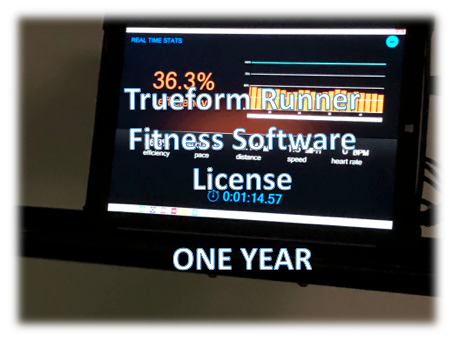 Software License-Fitness - One Year - Trueform Runner Display