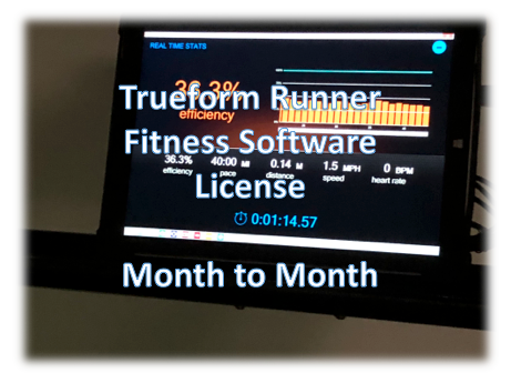 Software License Fitness -Month to Month for Trueform Runner Display