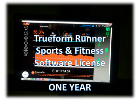 Software License- Sports & Fitness - One Year Trueform Runner  Display