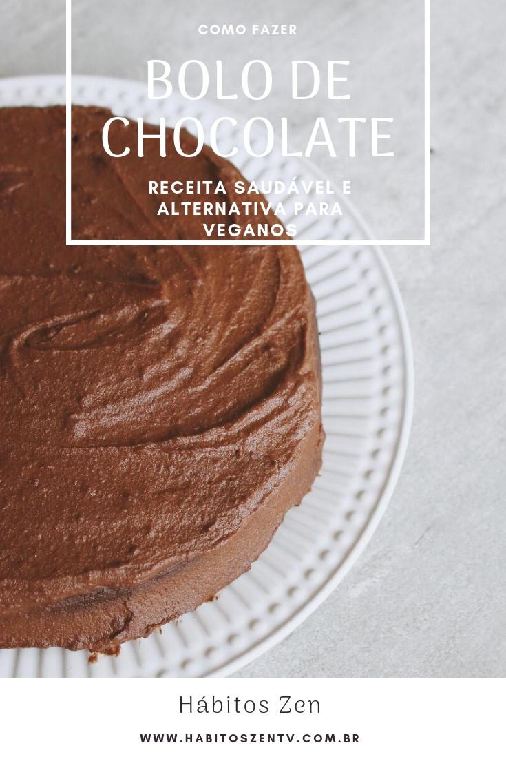 BOLO DE CHOCOLATE - Versão saudável - Alternativa para veganos