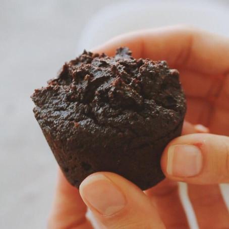 MUFFIN DE CHOCOLATE - Sem glúten e Sem açúcar - Alternativa para veganos