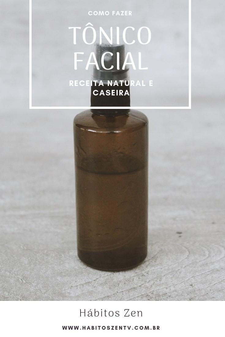Como Fazer Tônico Facial - Cosmético natural e veganos