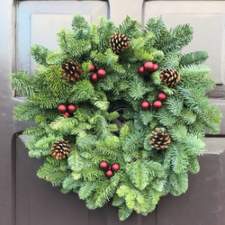 Pine cones and baubles