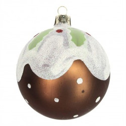bauble christmas pud