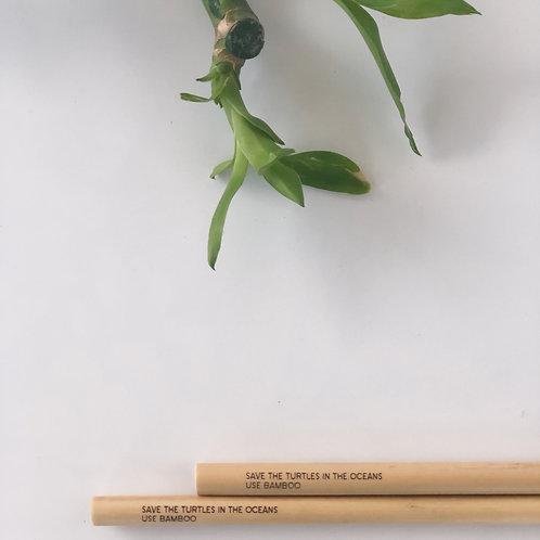 'Deniz Kaplumbağalarını Yaşatalım' Bambu Pipet - 2 Adet