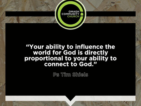Want to influence people? Let God influence you first!