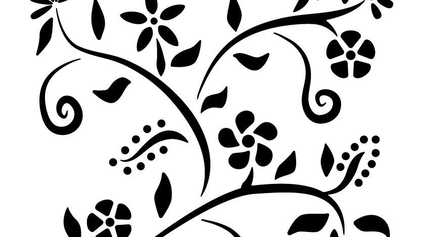 Summer Flowers Stencil
