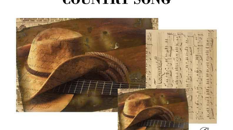 Country Song Decoupage Paper