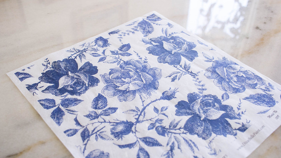 Dixie Belle Sketched Floral Deco Paper