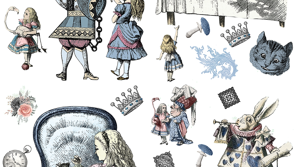Dixie Belle Transfer Alice in Wonderland
