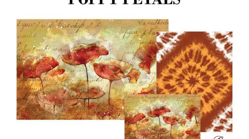 Poppy Petal Decoupage Paper