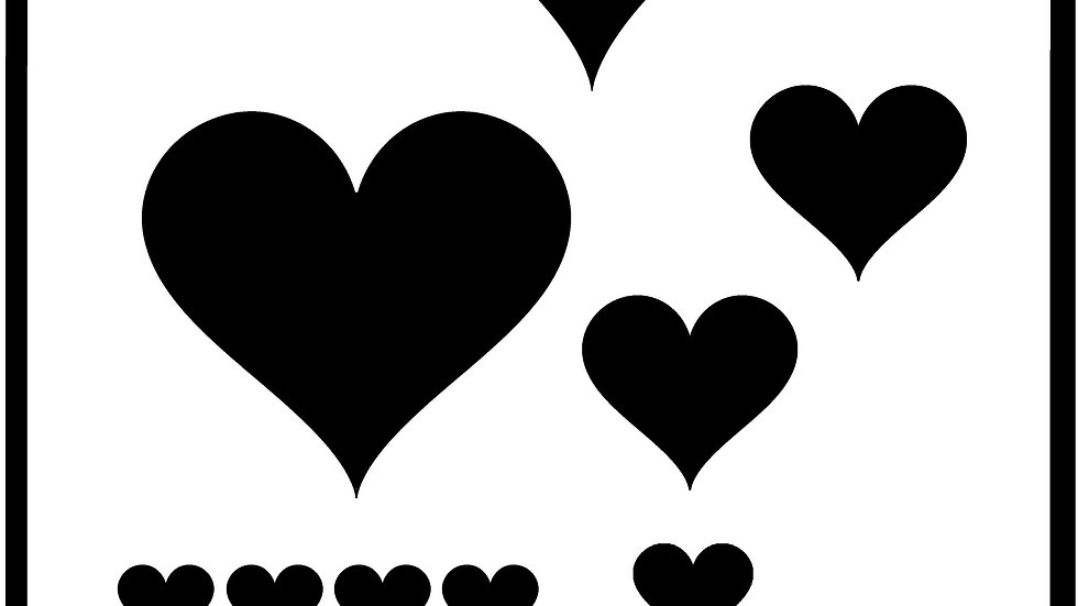Heart Stencil (Various Sizes)