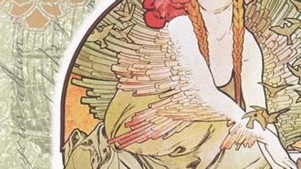 Roycycled Decoupage Paper Bird Lady