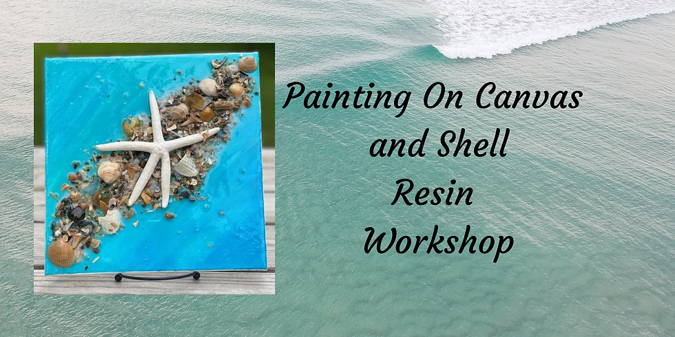 Painting on Canvas and Shells