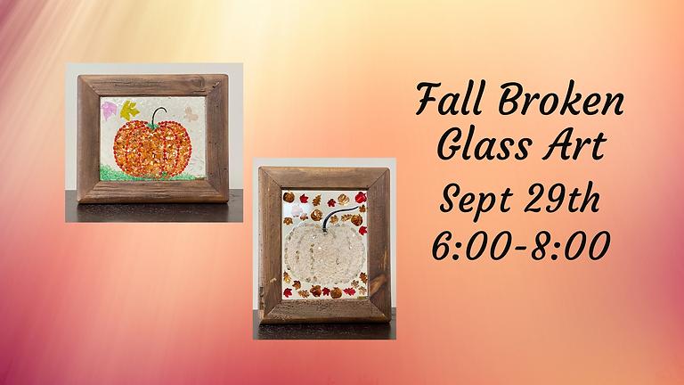 3 tickets left Fall Broken Glass Art Workshop
