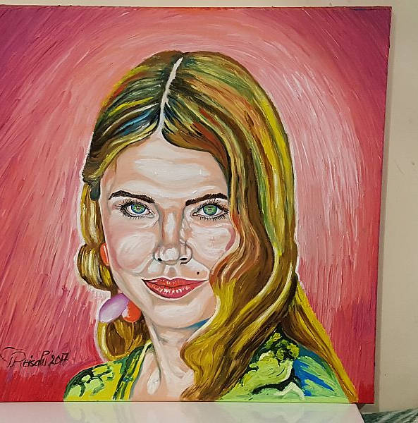 """""""Anu Saagimi portree"""" õlimaal 60x60cm"""