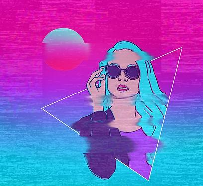 """""""Vaporwave"""" digijoonistuse trükk Elisabeth Undrits"""