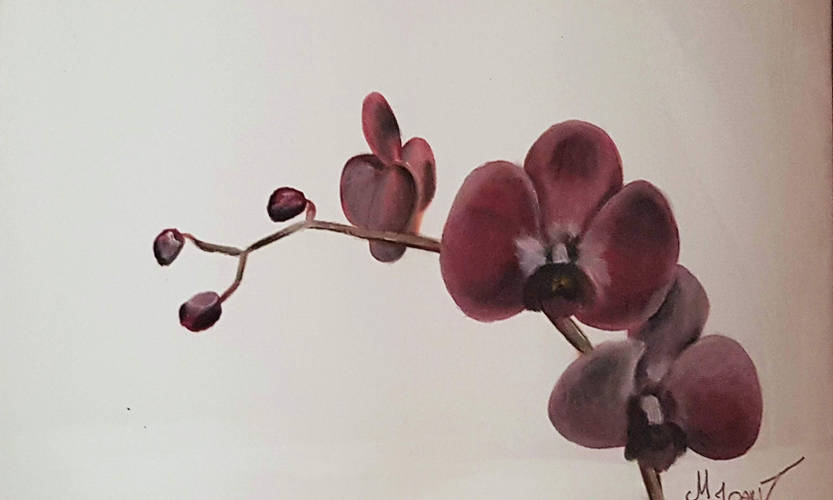 "Akrüülmaal 30x40cm lõuendil ""Orhidee"""