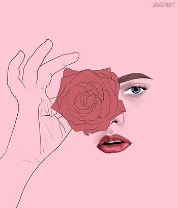 """""""Rosy"""" digijoonistuse trükk Bibiana Aarma"""