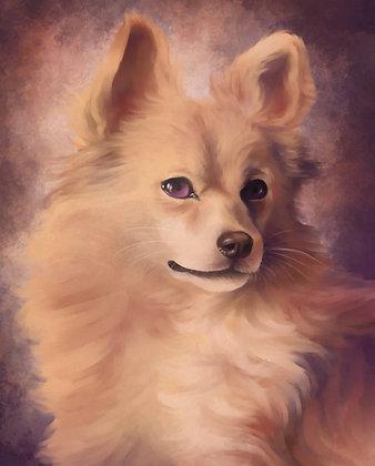 """""""Koer suhkruvatist"""" digijoonistuse trükk Elisabeth Undrits"""