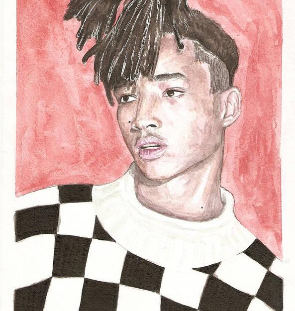 """Jaden Smith""akvarell A4 suurus"