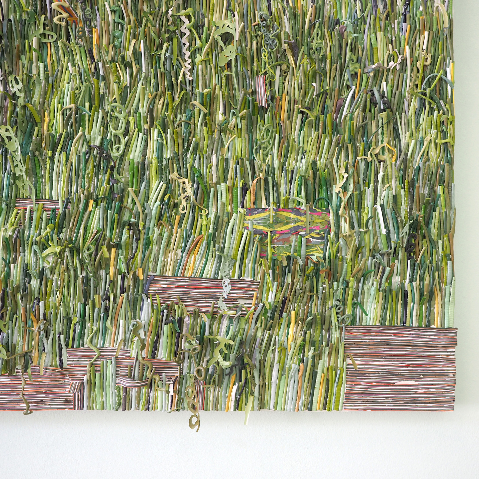 Detail of The Grass is Greener Made Out of Paint (2018)
