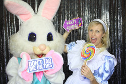 Easter Bunny Photo Booth Selfie