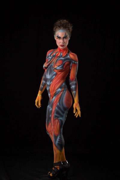 sexy creature body paint