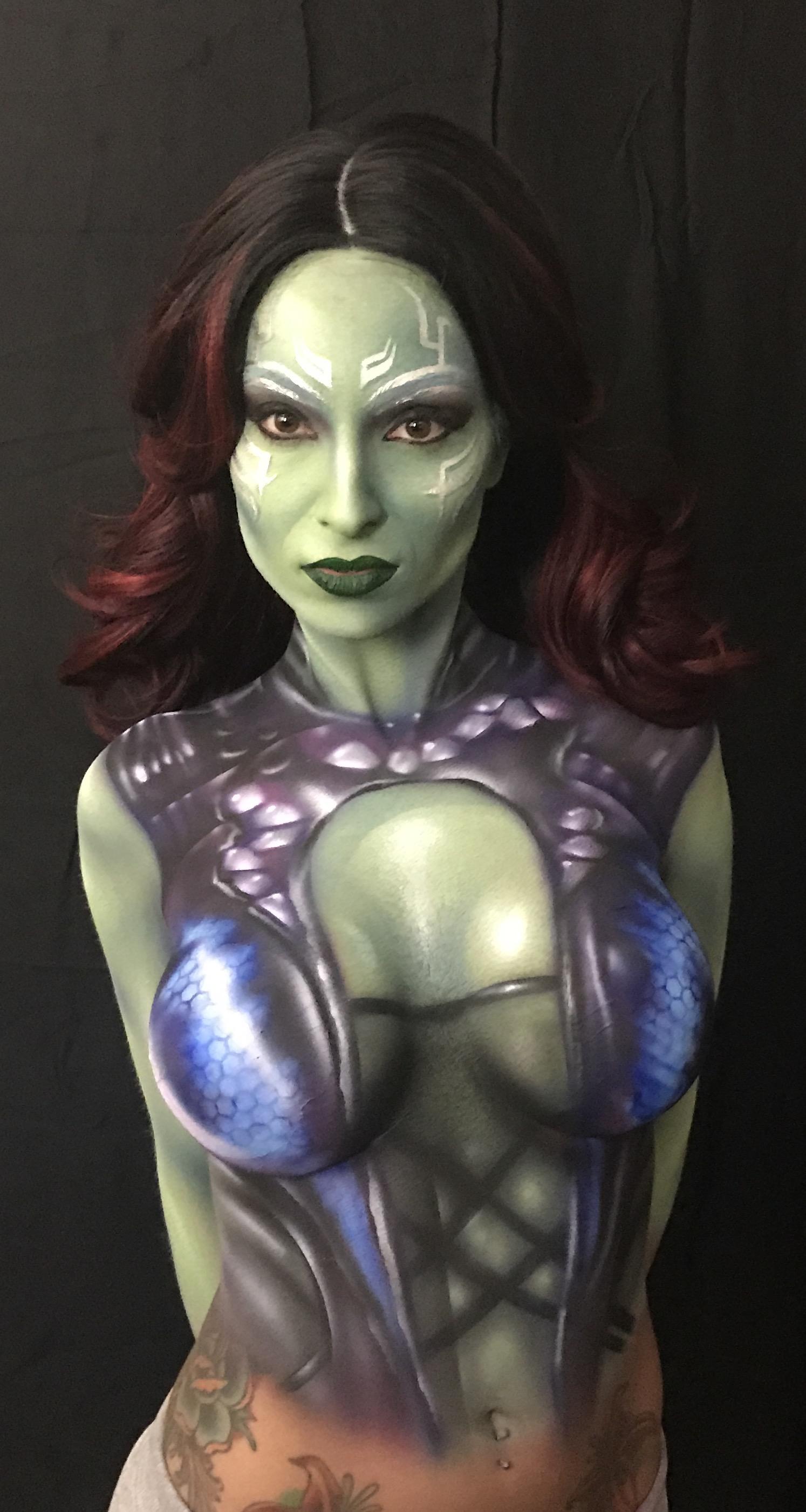 Gamora Body Paint