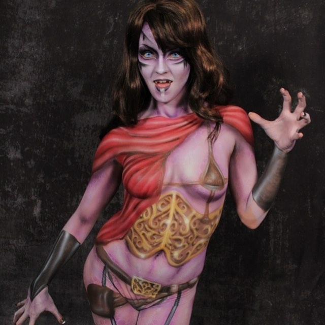 Vampire Body Paint